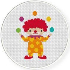 Clown Juggling Handmade Unframed Cross by CustomCraftJewelry
