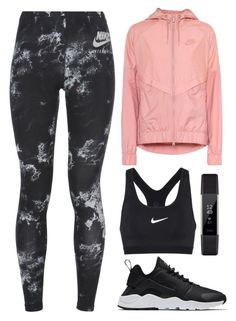 """""""Go Sporty"""" by aanchal-w ❤ liked on Polyvore featuring NIKE and Fitbit"""