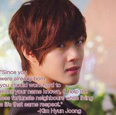 Kim Hyun Joong 김현중 ♡ cool quote ♡ Kpop ♡ Kdrama ♡