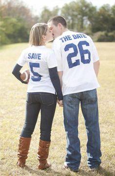 Cute for fall wedding or sports fan