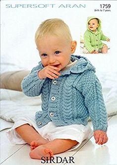 Sirdar Supersoft Aran Baby Knitting Pattern 1759