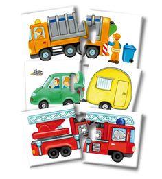 Noris Spiele 608985663 - Fahrzeuge Puzzle, Reise- und Mitbringspiel: Amazon.de: Spielzeug