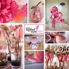 breast cancer awareness themed wedding