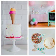 Ice cream themed birthday party via Kara's Party Ideas