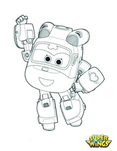 super wings coloring pages cool - Sprout Super Wings Coloring Pages
