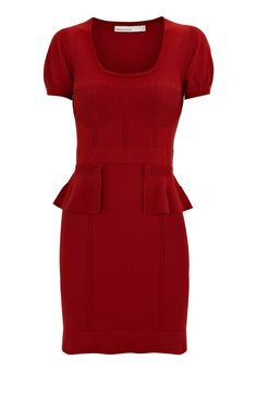 Cheap Replica Designer Clothes Women Karen Millen Peplum Knit Dress