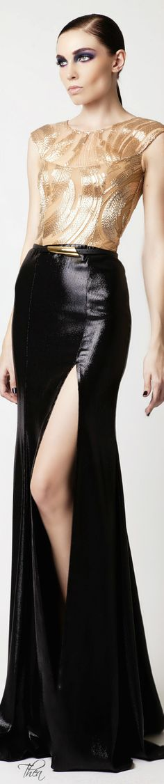 Now that's a great leather maxi skirt doing what it can do best - show off the legs of the lovely women wearing it.
