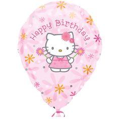 Hello Kitty Birthday Customized Foil Balloon - Includes (1) customized foil balloon.