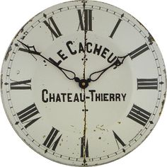 Found it at Wayfair.co.uk - Large Enamel French Wall Clockmaker's Dial Wall Clock