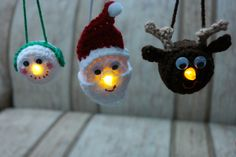 Light Ornament Family-free crochet pattern