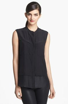 Trouvé Tonal Hem Zip Front Top available at #Nordstrom