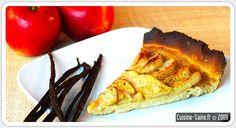 Dessert bio sans gluten : tarte aux pommes à la vanille Sans Gluten Ni Lactose, 20 Min, Quiche, French Toast, Dessert, Vegan, Breakfast, Bio, Pizza