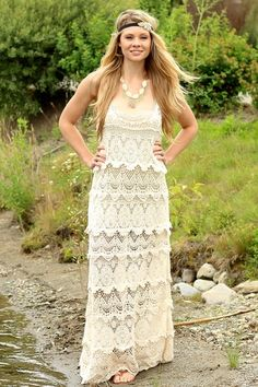 Charleston Flapper Vintage Lace Maxi Dress