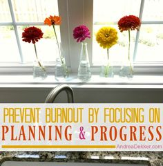 Prevent Burnout By Focusing on Planning and Progress #planning #schedule