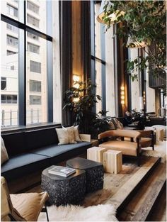 When it comes to getting a hotel ready to greet its guests, a lobby design is a tell-all. The entrance to a brand new world of luxury, these luxurious hotel lob Hotel Lobby Design, Hotel Bedroom Design, Modern Hotel Lobby, Hotel Lounge, Casa Hotel, Lobby Lounge, Lobby Bar, Lounge Design, Design Entrée