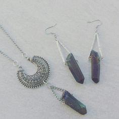 Updates from LycidasJewelry on Etsy Quartz Rock, Rocks, Drop Earrings, Gift Ideas, Trending Outfits, Unique Jewelry, Handmade Gifts, Etsy, Vintage