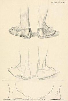 guide to drawing feet, beginner art tutorial