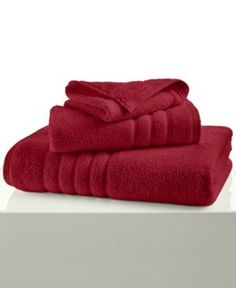 """Hotel Collection Ultimate MicroCotton 16"""" x 30"""" Hand Towel, Only at Macy's - Red"""