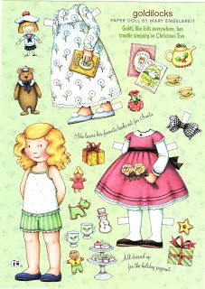 Here are two more Mary Engelbreit paper doll sheets. I do not have years on these, but both are from December and feature Christmas ou...