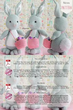 Free amigurumi doll and animal crochet patterns are waiting for you. You can find everything about Amigurumi. Amigurumi Toys, Crochet Patterns Amigurumi, Free Crochet, Crochet Hats, How To Start Knitting, Bunny Rabbit, Free Pattern, Etsy Shop, Dolls