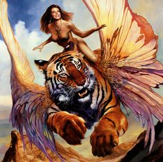 Boris Vallejo and Julie Bell. I love how they show the strength in women!