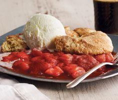 Lemony Strawberry-Rhubarb Cobbler