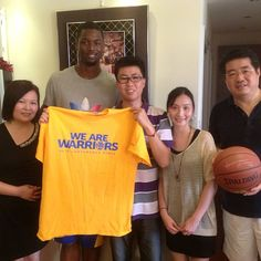 HBarnes: Big thanks to the Wang family for letting my kick it in their home today and teaching me how to make dumplings