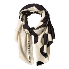 Marc Jacobs Big Spot Scarf (Black Multi) Scarves (€135) ❤ liked on Polyvore featuring accessories, scarves, marc jacobs scarves, viscose scarves and marc jacobs
