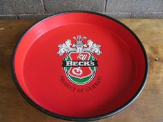 Becks Beer Red Crest Logo Vintage Beer Tray Made in Germany 20-7-7