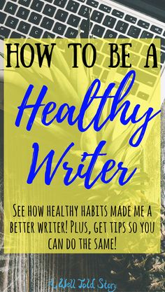 As much as I believe in pushing yourself for writing, I don't believe you should be sacrificing your health. Here's what I do to be a healthy writer. Fiction Writing, Writing Advice, Start Writing, Writing Resources, Blog Writing, Writing A Book, Writing Ideas, Writing Guide, Script Writing