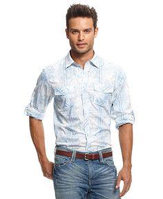 I-N-C Long Sleeve Waters Shirt