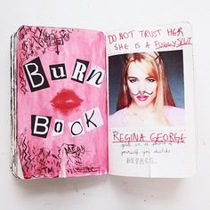 wreck this journal mean girls page | via Tumblr