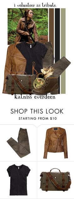 """""""Katniss Everdeen -- 50 Favorite Fictional Females"""" by evil-laugh ❤ liked on Polyvore featuring 7 For All Mankind, Lavand., H&M and Steve Madden"""