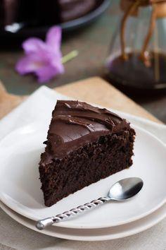 Part de gâteau au chocolat de Yotam Ottolenghi