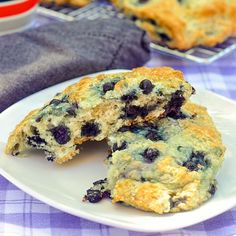 Blueberry Buttermilk Scones with Honey Butter - this recipe uses readily available frozen blueberries to make this outstanding brunch favourite.