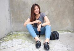 Ulzzang Girl, Tinkerbell, Mom Jeans, Idol, Casual Outfits, Ootd, People, How To Wear, Inspiration