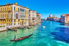 Venice on a budget: View along the Grand Canal, with Palazzo Franchetti on the left and Basilica di Santa Maria della Salute in the distance Italy Holiday Destinations, Travel Destinations, Travel Tips, Cool Places To Visit, Places To Travel, Places To Go, Grand Canal, Italy Vacation, Italy Travel