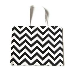 Black Bag  Black Chevron Tote  Black and White by AnyarwotStyle, $18.00