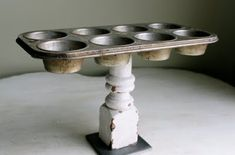 Muffin tin art/jewelry storage