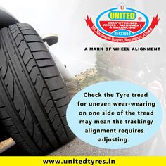 Uneven tyre wear compromises the life and performance of your tyres, the handling of your vehicle, and your safety. That's why it's so important to spot signs of uneven tire wear early and take corrective action. #tyres #safety #wheelalignment #wheelbalancing #ahmedabad