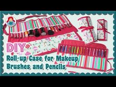(279) DIY | Roll-up Case for Makeup Brushes and Pencils • Sami Dolls Tutorial - YouTube