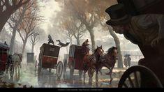 Cart Fight, Hugo Puzzuoli on ArtStation at https://www.artstation.com/artwork/ndLo4