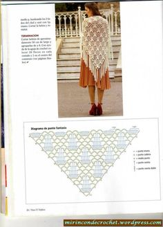 blan2 Crochet Chart, Diy Crochet, Crochet Baby, Crochet Triangle Scarf, Knitting Patterns, Crochet Patterns, Acrylic Wool, Crochet Scarves, Hobbies And Crafts