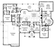 The Massena House Plan by Energy Smart Home Plans Total Living: 4048 sq. Bedrooms: 4 Bathrooms: Foundation: Slab Living area and overall dimensions are calculated for frame exterior walls. Dream House Plans, House Floor Plans, Portico Entry, Built In Buffet, Murphy Bed Plans, Stone Cladding, House Blueprints, Brick And Stone, Bath