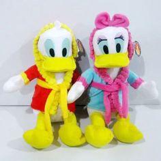 "2pcs Disney nightclothes Donald duck Daisy Duck plush toy Stuffed Kids Gift 14"" #Disney"