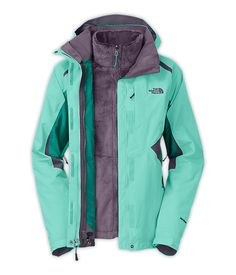 The North Face Boundary Triclimate Jacket - Women s Mint Blue Fanfare  Green Greystone Blue 45cdc7265522