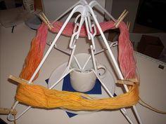 Homemade yarn swift