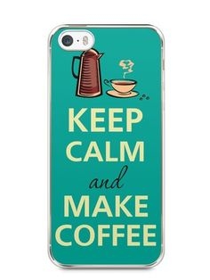 Capa Iphone 5/S Keep Calm and Make Coffee