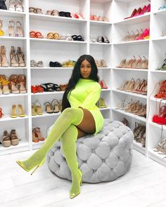 Bougie Black Girl, Bad And Bougie, Love Fashion, Fashion Looks, Fashion Outfits, Fat Black Girls, Cute Summer Outfits, Cute Outfits, Verde Neon