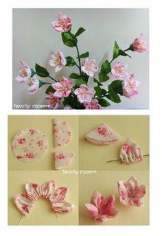 Fabric flower tutorial- fabulous fabric flower bouquet!